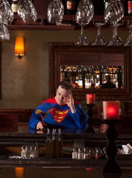 Superman at Cafe Italia